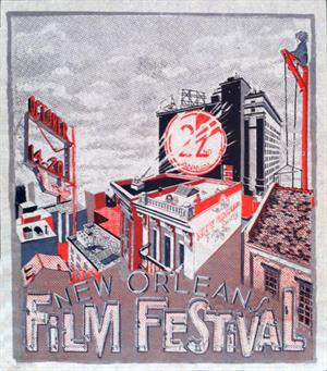 Set of 2: 2011 & 2012 New Orleans Film Festival Posters, limited edition prints, designed and hand silk-screened by local artist Meg Turner (Community Printshop) by: Meg Turner